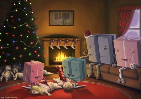 Presents Opening Children