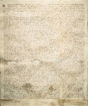 """Один из древнейших вариантов британской """"Великой хартии вольности"""" (""""Magna Carta"""")"""