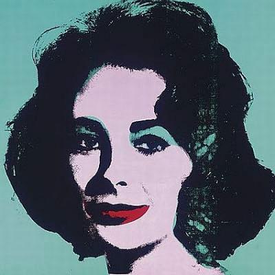 портрет Лиз Тэйлор (Liz Taylor) работы Энди Уорхола (Andy Warhol)
