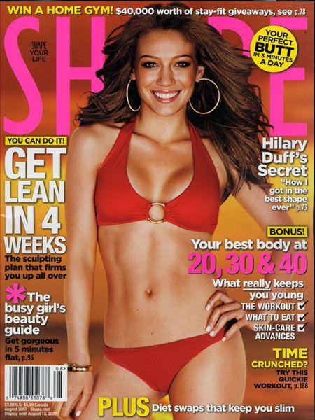 Хилари Дафф (Hilary Duff), разворот Shape Magazine