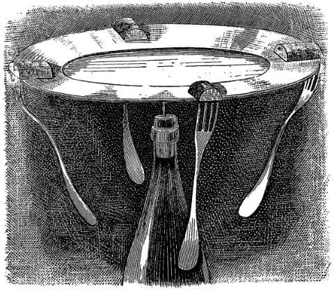 Равновесие тарелки на острие иглы