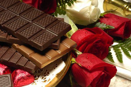 Шоколад с розами